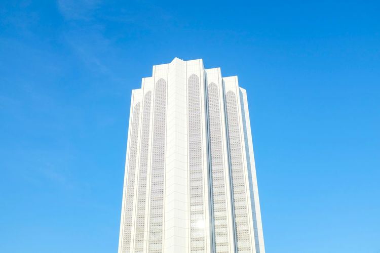 Daya bumi tower, Kuala Lumpur. Clear Sky Blue Low Angle View No People Architecture Currency Sky