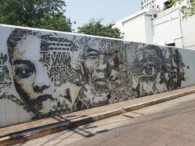 Bangkok Thailand. Wall Art Graffiti Art Graffiti Wall