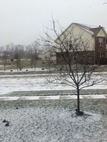 Indiana Weather Is Messed Up. ⛄❄☔⚡☁⛅☀