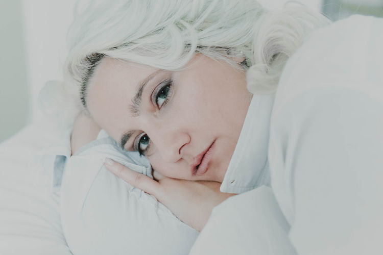 One Person Human Body Part Human Face Indoors  People Adult Young Adult Only Women One Young Woman Only One Woman Only Young Women Headshot Adults Only Relaxation Women Portrait Close-up Beauty Bedroom Hospital