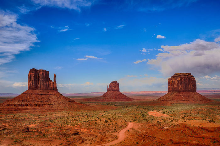 Beauty In Nature Blue Cloud - Sky Desert Desert Desert Landscape Geology Landscape Nature No People Outdoors Rock - Object Sand Mountains Scenics Tranquility
