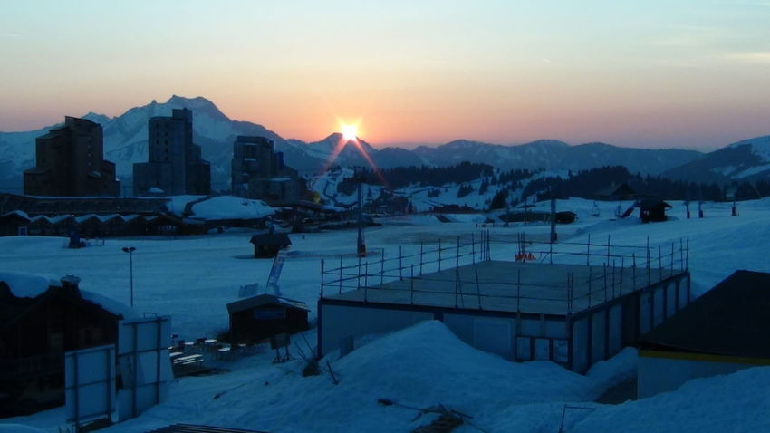 Avoriaz Connected By Travel France🇫🇷 Lost In The Landscape The Week On EyeEm Beauty In Nature Building Exterior Cold Temperature Conected With Nature Frozen Mountain Mountain Range Sky Snow Snowdrift Sunset Tranquil Scene Tranquility Weather Winter