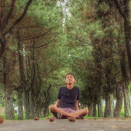 Smoking on the nature 🍃 . Landscape Nature Sit Smoking Tree Pine Man LoveNature Picoftheday Explorebandung Exploreyourself Livefolkindonesia