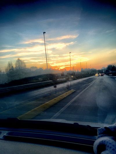 Home Sweet Home Returning Ontheroad Lastsunset 08:00 pm Car