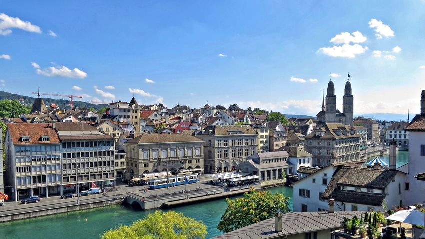 Limmat Architecture Building Exterior Built Structure City Cityscape Day Limmat Limmatquai Outdoors River Schweiz Switzerland Travel Destinations Water Waterfront Zürich