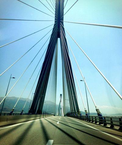 Bridge On The Road Modernbridge Greece