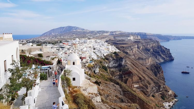EyeEm Selects High Angle View Sea Day Vacations Cityscape Town Outdoors Fira Fira Santorini Santorini Santorini, Greece Thira Thira(Fira) Santorini Thira (Fira) View Lost In The Landscape