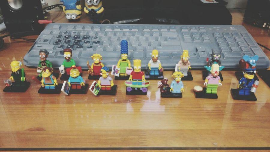 헤헤 드디어 완성 Simpsons Lego Mini Figures
