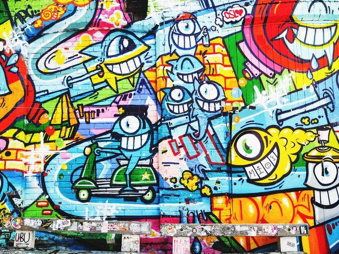Graffitti on a