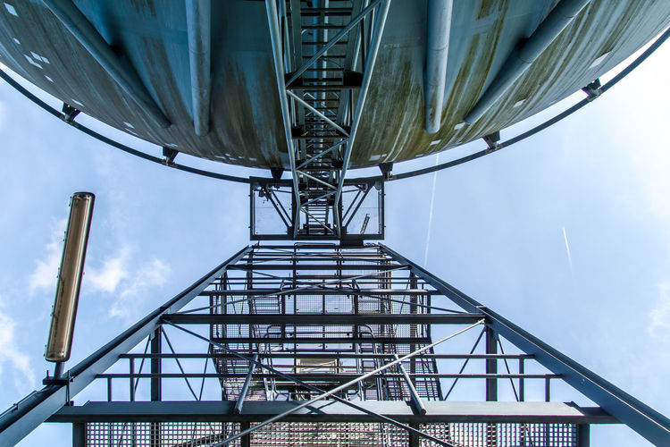 Gasoline Industrial Industry Steps Architecture Built Structure Complexity Day Energy Energy Industry Factory Factory Building Gas Tank Gasoline Tank Industrial Equipment Low Angle View No People Outdoors Sky Steps And Staircases Tank Modern Workplace Culture