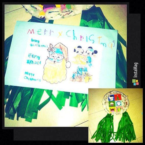 Cute Christmas lantern at letter gawa ni Zildjian ko ☺️👼👏💖🎄 Instalove Proudmum