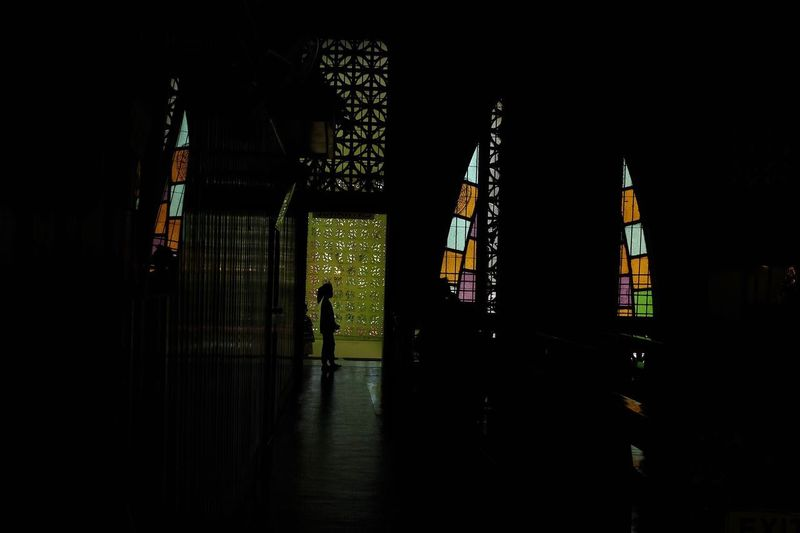 Stories From The City Power One Person FilipinoStreetPhotographers Colors Church Streetphotography Everybodystreet Architecture Silhouette Cebu Indoors  EyeemPhilippines Real People