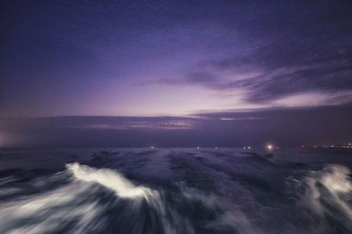 Korea Photos Cloudpark Jeju Jejudo Wave Fishing Boat Sea Speedboat Nature Motion Waves Splashing Long Exposure Scenics Sky Beauty In Nature Horizon Over Water Above Constellation Outdoors Landscape Nautical Vessel No People Clouds And Sky streamzoofamily