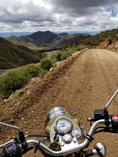 los Andes Royalenfield Classic Mountain Mountain Road Photography Themes Sky Cloud - Sky Close-up Motorcycle Motocross Crash Helmet Gear Mountain Range Speedometer Machine Part Motorsport Interlocked A New Perspective On Life It's About The Journey 2018 In One Photograph