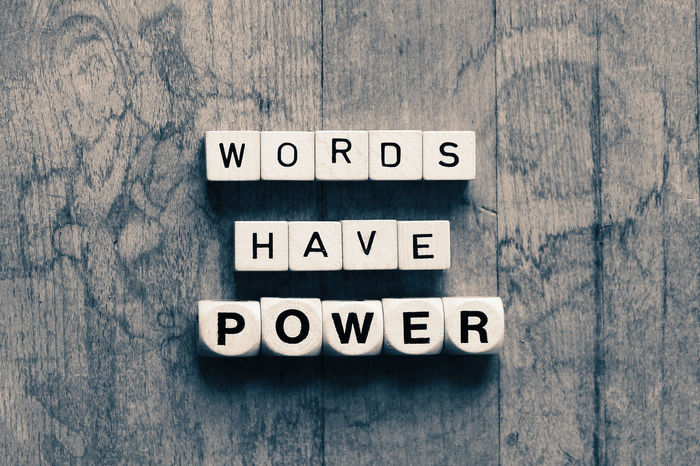 Words have power Communication Power Powerful Speech Text Wood - Material Words Words Have Power Words In The Wild