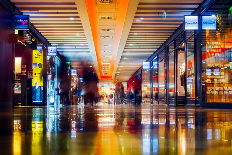 People in motion blur at the mall. Malaga, Spain - March 24, 2018. Larios Malaga Market Motion Blur SPAIN Shopping Mall Mall Time  Massimo Dutti Motion Motion Blurred Motion Capture People people and places Primark Shop Shopping Mall Shpping Solvision Zara