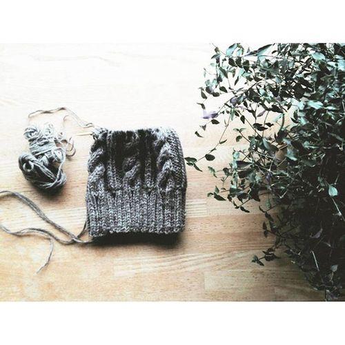 Knit Knitting Sakanoshitaknitting Handmade 手編み グレー