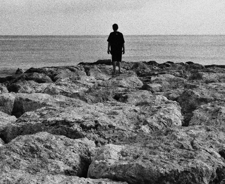 Espigón. Beach Photography Black & White
