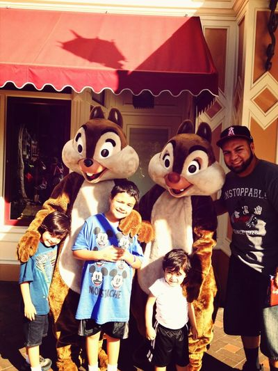 All my boys with chip & dale.