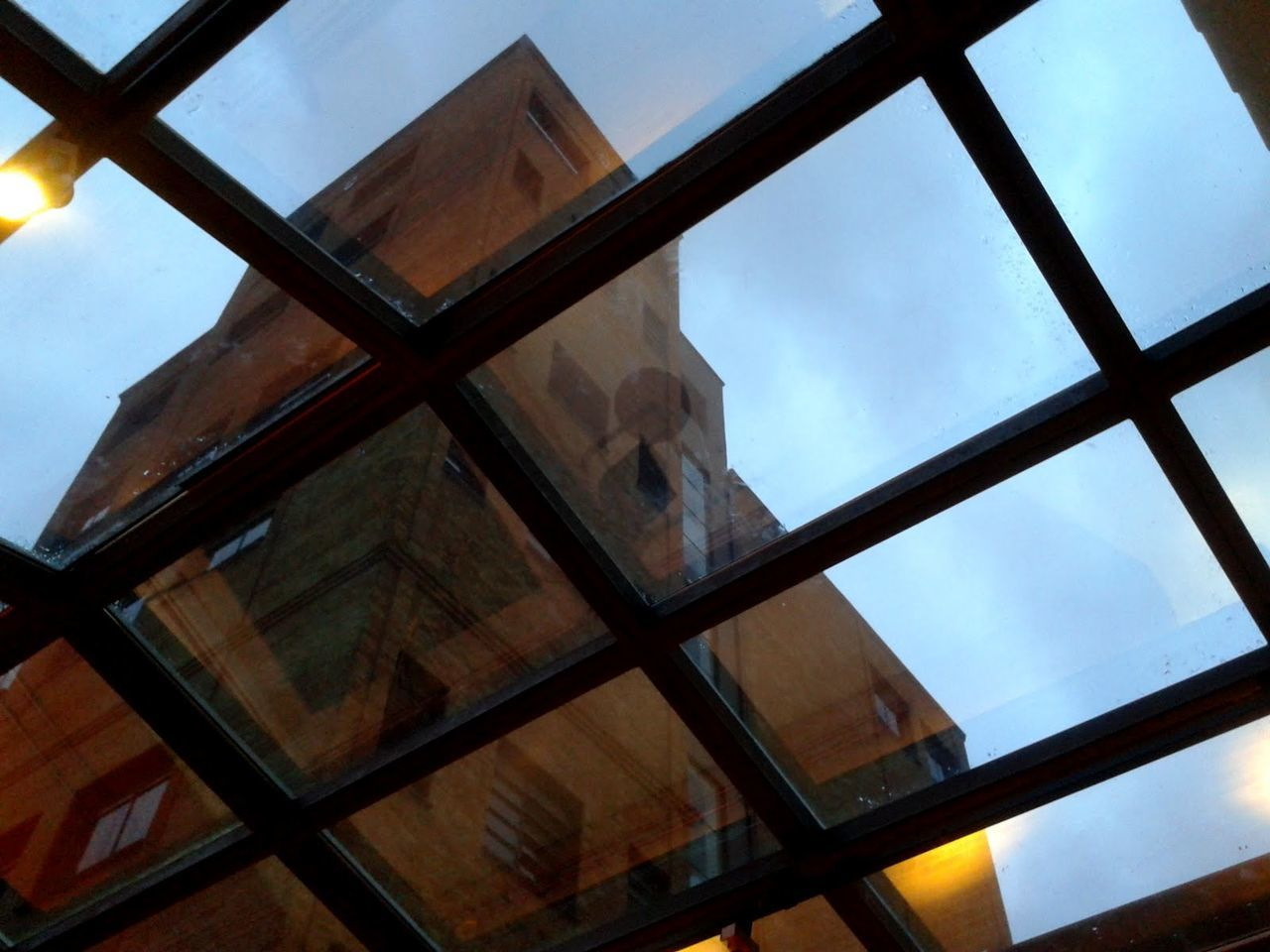 sky, low angle view, window, indoors, architecture, no people, built structure, day, nature, close-up