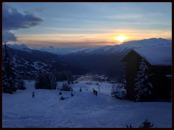 Les Alpes Moutains Sunset France