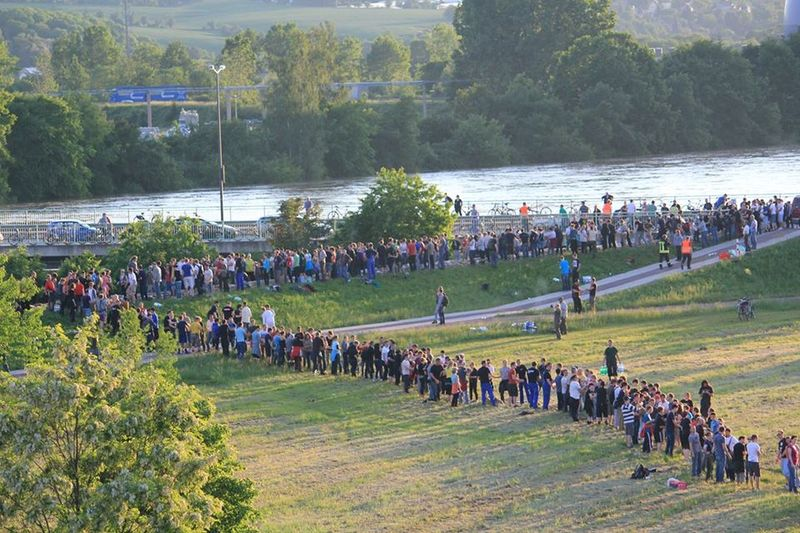 fight against the flood. we stay strong and together. it's unbelievable. Flood Dresden