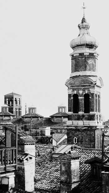 Details Architecture Building Exterior No People Outdoors Venezia Roof Church Bell Tower Venice, Italy Black & White Black And White Friday