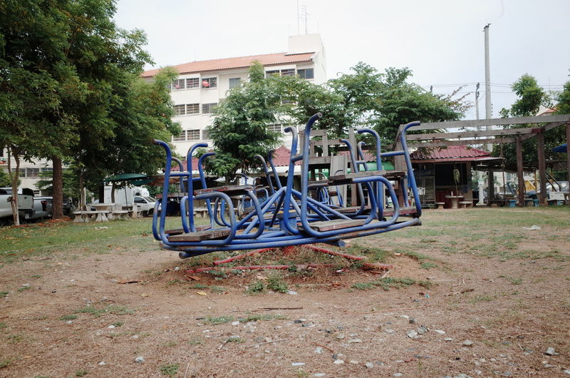 Playground at Bangchalong Architecture Building Exterior Built Structure Day No People Outdoors Playground Playground Equipment Playground Structure Tree