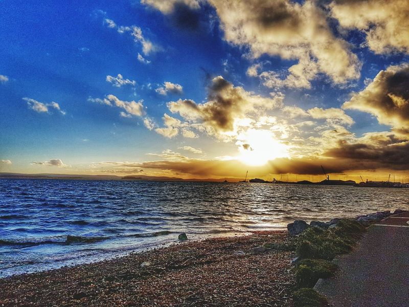 Sunset Sky Beauty In Nature Nature Sea Water Scenics Beach Tranquil Scene Cloud - Sky Outdoors No People Horizon Over Water Tranquility Sand Idyllic Hanging Out Relaxing Taking Photos Besteyemphoto On A Journey Enjoying Life New Life Poole, Dorset Check This Out