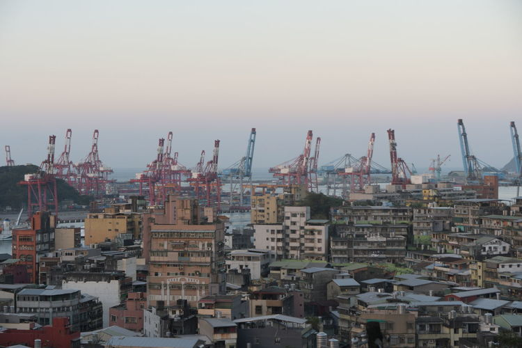 Harbor Cranes Cargo Keelung Business Finance And Industry City No People Social Issues Industry Sky Architecture Cityscape