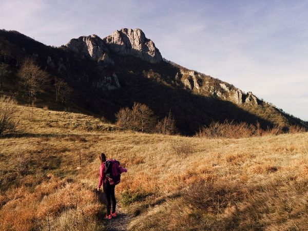 """""""The girl and the mountain"""", Klek meadows, Ogulin, Croatia, 2017. Girl Croatia Ogulin Klek Real People Mountain Walking Hiking Full Length Lifestyles Rear View Hiker Leisure Activity Backpack Landscape Beauty In Nature"""