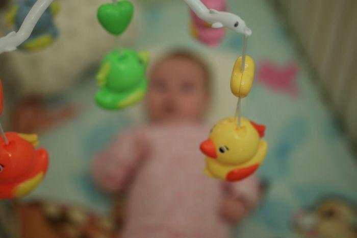 Baby Childhood Children Crib Lullaby In Bed Mobile Rattle Child Children Photography Children Playing Ducks Toys Toy Having Fun