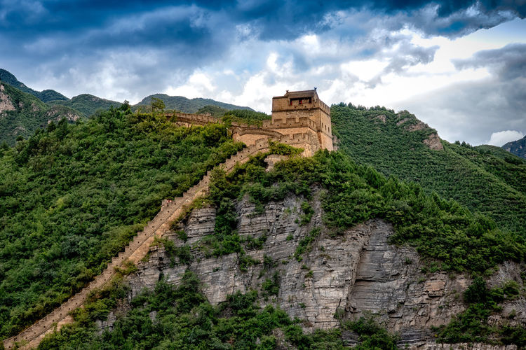 Ancient Ancient Civilization Archaeology Architecture Built Structure China Chinesewall Cloud - Sky History Mountain Mountain Range Scenics - Nature Sky The Past Tourism Travel Destinations