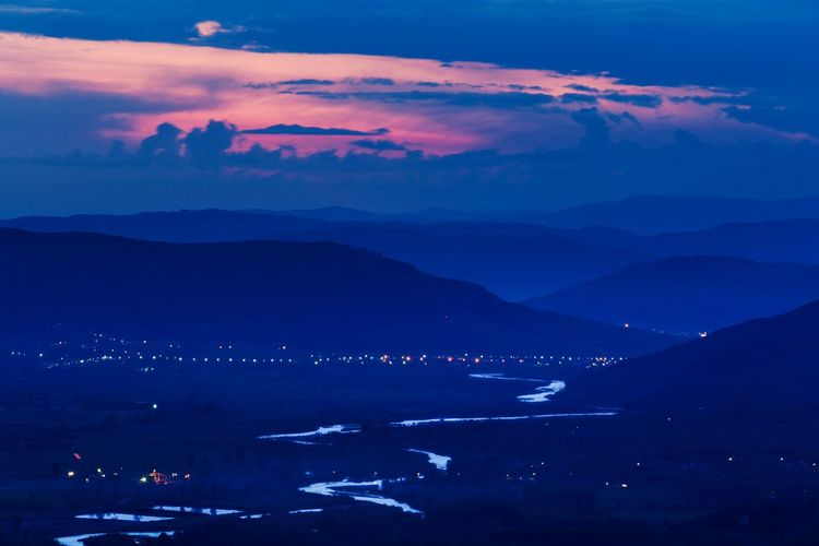 Sunset Buzau Valley Sunset_collection Mountains River View Riverview Clouds And Sky Lights
