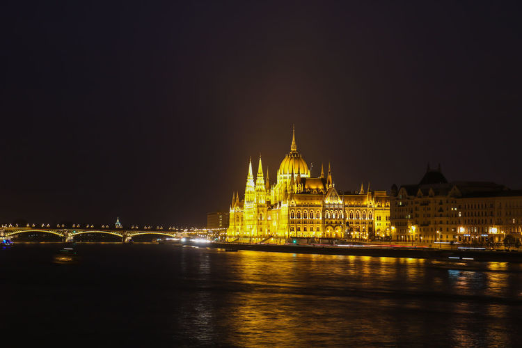 Budapest, Hungary Architecture Building Exterior Built Structure City Government Illuminated Nature Night No People Outdoors Reflection River Sky Tourism Travel Travel Destinations Water Waterfront