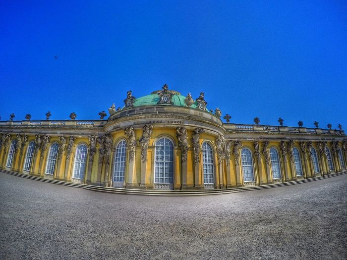 Sanssouci Architecture Architecture_collection Historical Building Historical Monuments Sanssouci Park Potsdam Sanssouci Palace Architectural Column Architecture Blue Building Exterior Built Structure Clear Sky Copy Space Day Historic History Low Angle View No People Outdoors Palace Park Sanssouci Sanssoucipalace Sky Statue Travel Destinations