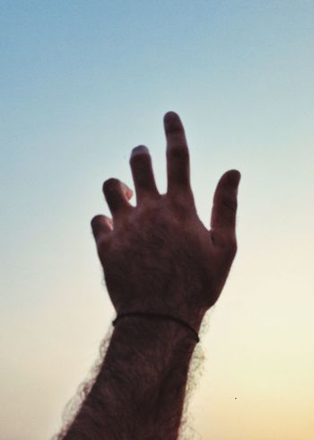 Touching the sky Person Lifestyles Leisure Activity Human Finger Personal Perspective Reaching Focus On Foreground Palm Outdoors Limb Human Skin Tranquility Sunset Boy