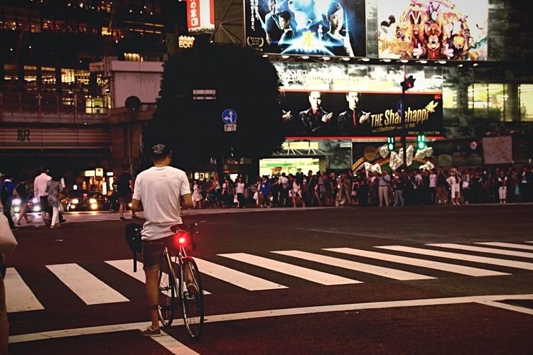 Everybodystreet Shibuya Night View Open Edit Night Lights Bicycle Stand Out From The Crowd Cityscapes Photos That Will Restore Your Faith In Humanity I Love My City Celebrate Your Ride On Your Bike Urban Exploration Street Photography Transportation People Snapshots Of Life Urban Lifestyle Landscapes Urban Landscape Walking Around Capture The Moment Light And Shadow Simple Moment Lifestyles