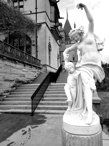 Black And White Statue Editorial Photography Biltmore Estate Outdoor Photography Editorial Only Steps Statue Sculpture Architecture Building Exterior Built Structure