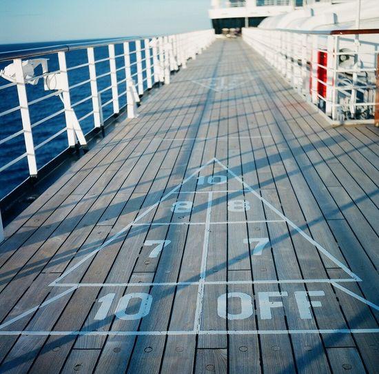 Shuffleboard Lubitel 166+ Cruise Ship Real Film