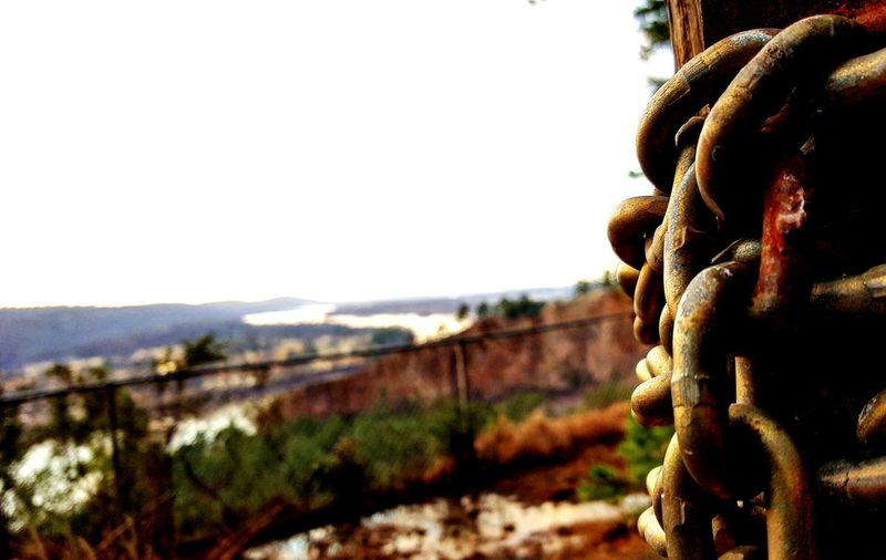 EyeEm Selects Focus On Foreground Day Outdoors Close-up Nature Strength Chainlink Freedom Outside Landscape Arkansas Riverbank Riverscape Riverside Photography Riverview Riverwalk