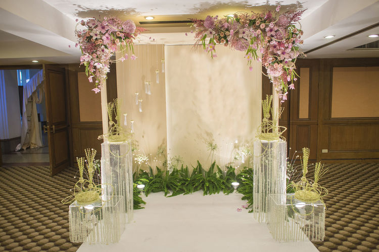 Architecture Backgrounds Ceremony Day Decoration Engagement Flower No People Thaiwedding Wedding Wedding Background