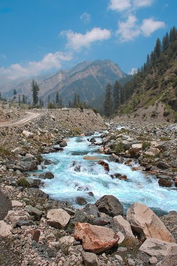 Amazing Pakistan Landscape_Collection River Stream, Rock Formation Sky And Clouds Trees Blurred Motion Landscape Landscape_photography Mountain Range Mountain Track Rock - Object Rocks Stone Stream