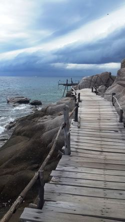 ASIA Beach Beauty In Nature Cloud - Sky Day Happiness Horizon Over Water Nature No People Outdoors Railing Scenics Sea Sky Steps Thailand The Way Forward Water Wood - Material Wood Paneling