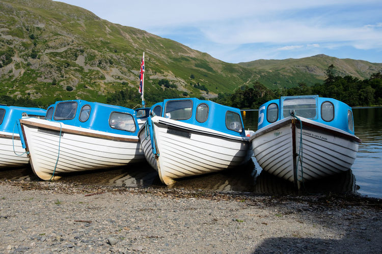 Ullswater Lakeside - Lake District, UK, 2018 Lake District Ullswater Beauty In Nature Day Fujifilm Lake Mode Of Transportation Nature Nautical Vessel No People Outdoors Sailboat Sailing Sky Transportation Xseries My Best Photo Springtime Decadence