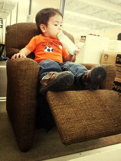 Nephew got his own size recliner cx ^_^>