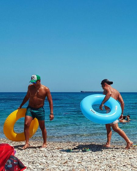 The OO Mission Summertime Men Swimwear Summer Views Mensfashion Inflatables Summer Beachphotography Beach Life Menstyle Sunny Day Menaccesories Funny Taking Photos From Where I Stand Life Is A Beach