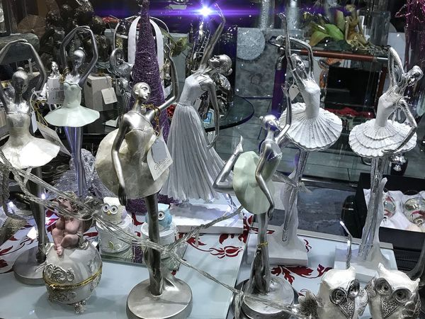 For Sale Adornos Navideños Escaparates High Angle View Indoors  Arts Culture And Entertainment Retail  No People