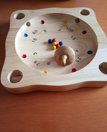 No People Wood - Material Straight Pin Game Roulette Roulette Play Colorful Roulettetirolese