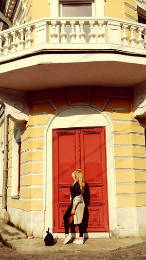 Architecture Nature Women Lifestyles Blond Hair Real People Young Women Only Women Travel Destinations Arkhangel'sk